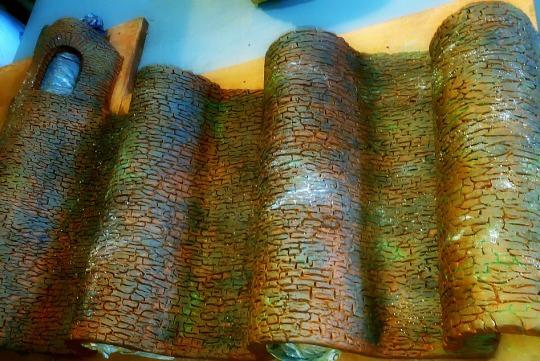 Muralla de arcilla sin hornear