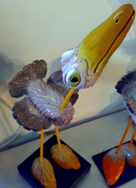 Aves de cerámica