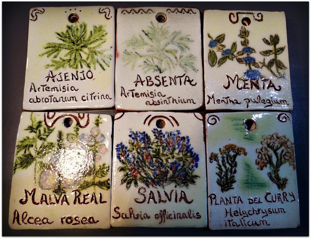 Placas para plantas aromáticas