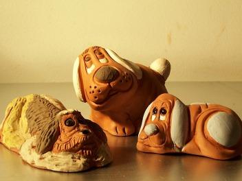 Perros cerámica