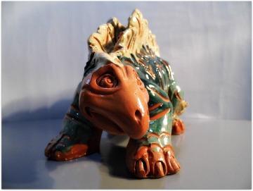 Dinosaurio cerámica