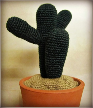 Cactus, ganchillo y cerámica