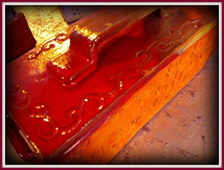 Joyero de arcilla esmaltado