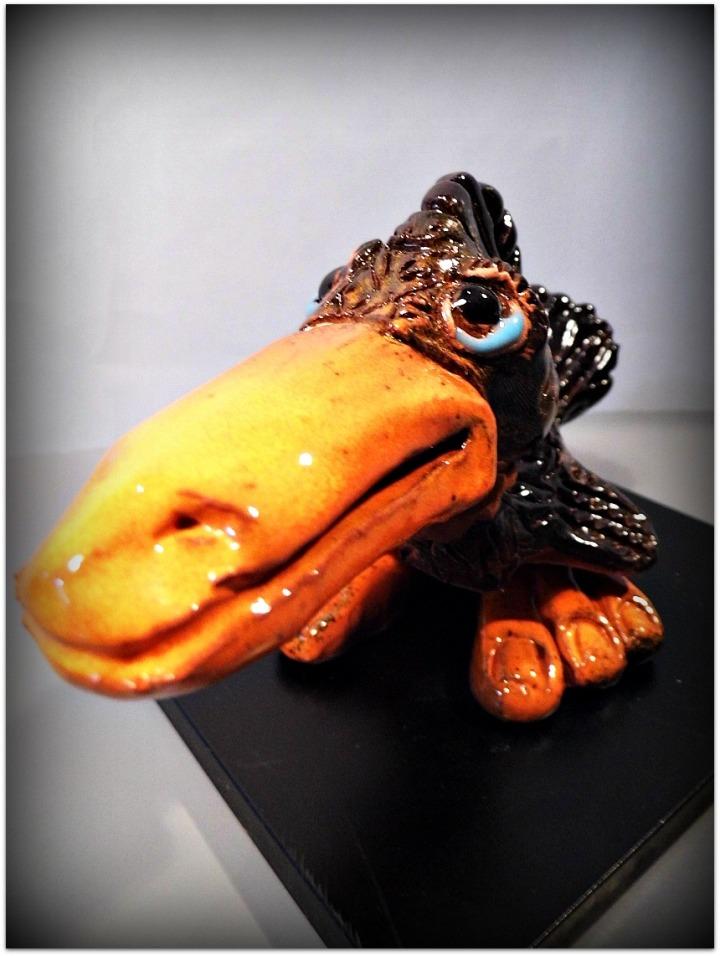 Pájaro de cerámica