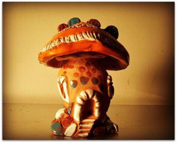 ceramics, mushroom, poetry
