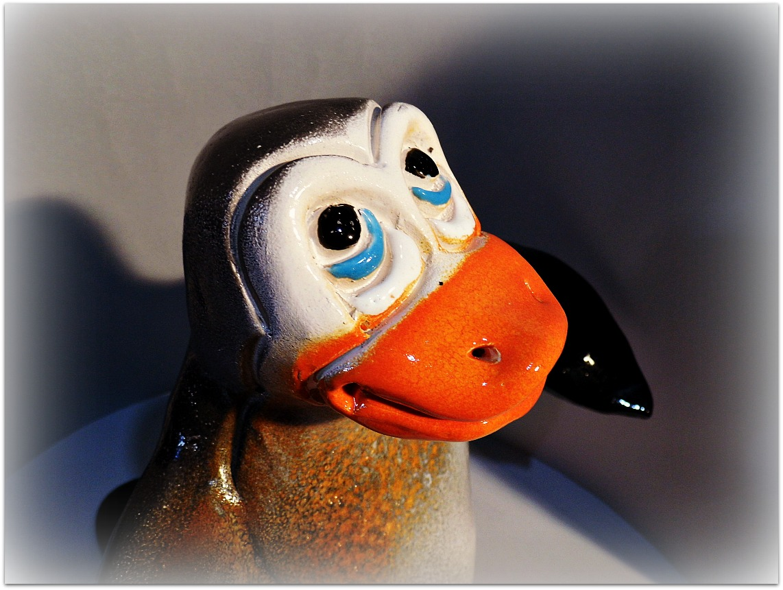 Pingüino de cerámica