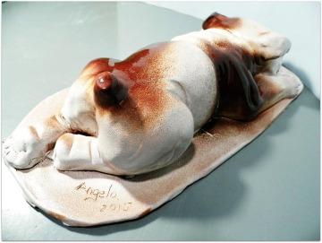 Bulldog de cerámica