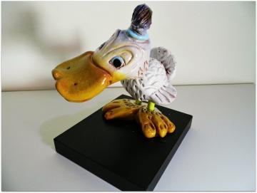 Pato de cerámica