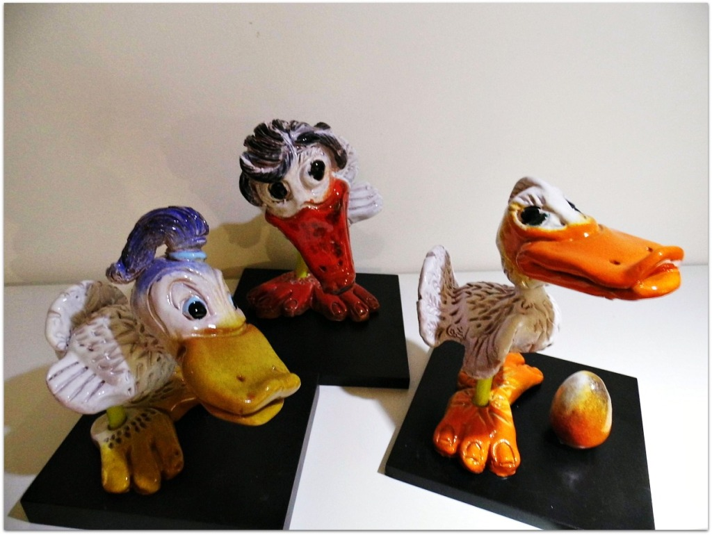 Patos de cerámica