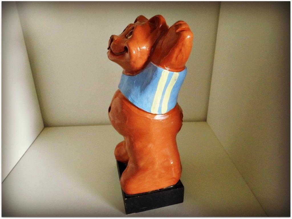 Oso de cerámica esmaltado