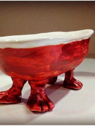 Bañera, pequeña escultura cerámica